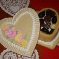 valentine box filled with chocolate