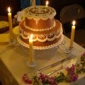 cake with candle stand