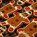 detail of gingerbread boy cookie